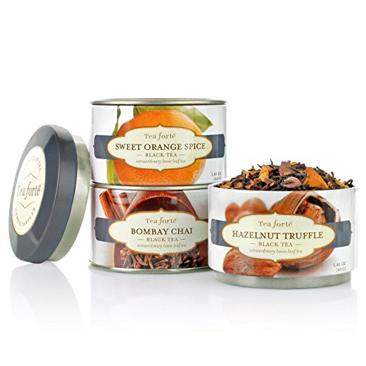Tea Forte Loose Leaf Tea Trio - Black Tea