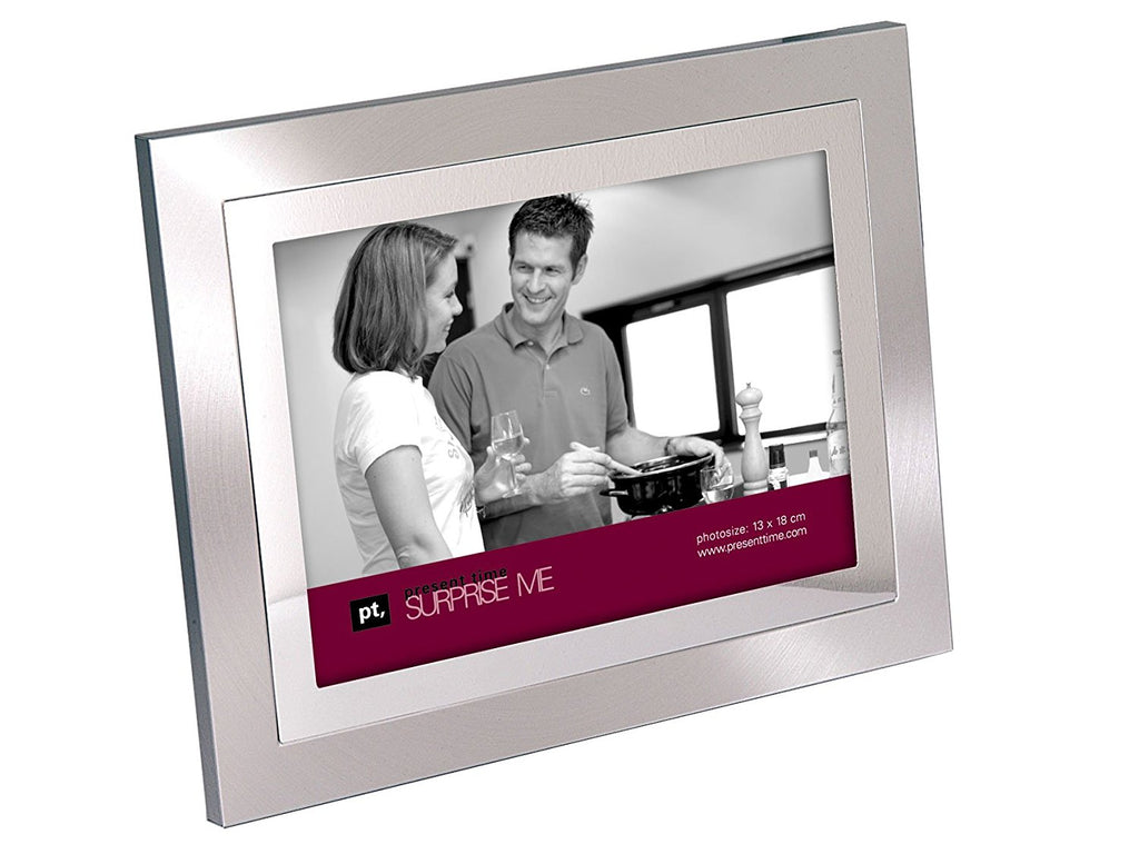 Present Time 2-Tone Steel Photo Frame