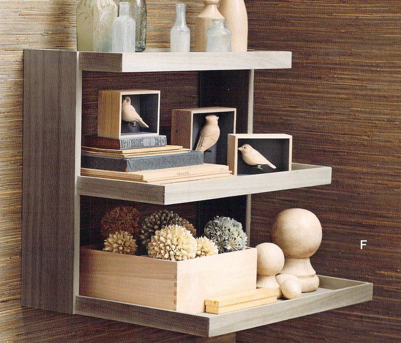 Roost Natural Kiri Tiered Display Shelf
