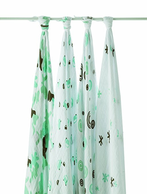 Aden + Anais Classic Swaddle Blankets 4-Pack - Little Man