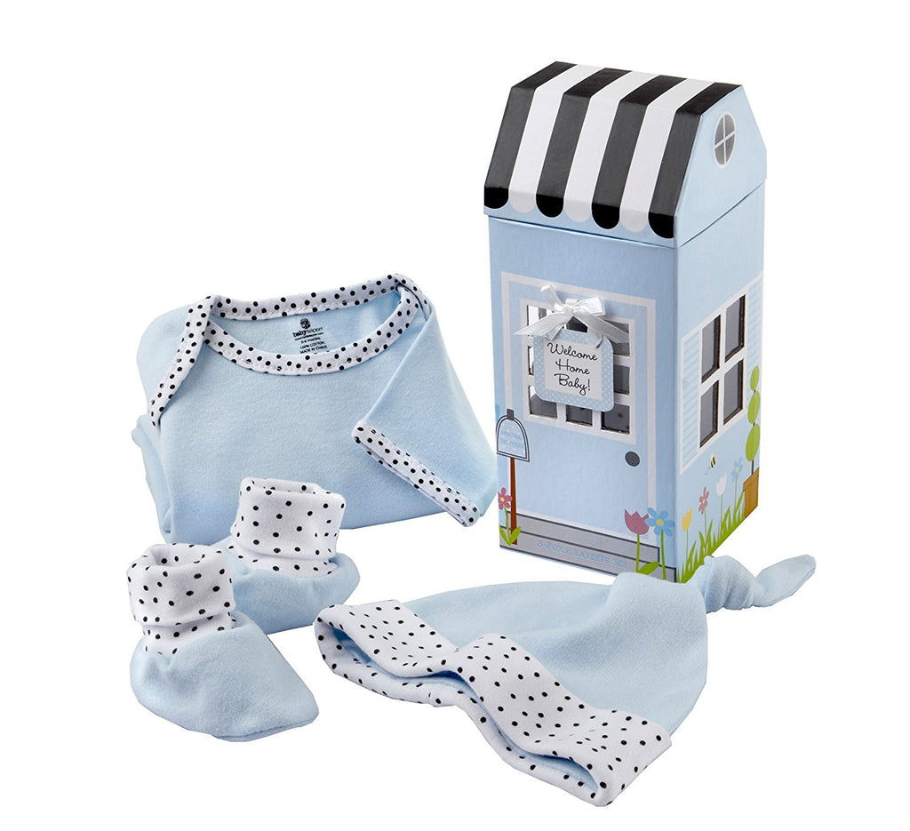 "Baby Aspen ""Welcome Home Baby!"" 3-Piece Layette Set in Keepsake Gift Box"