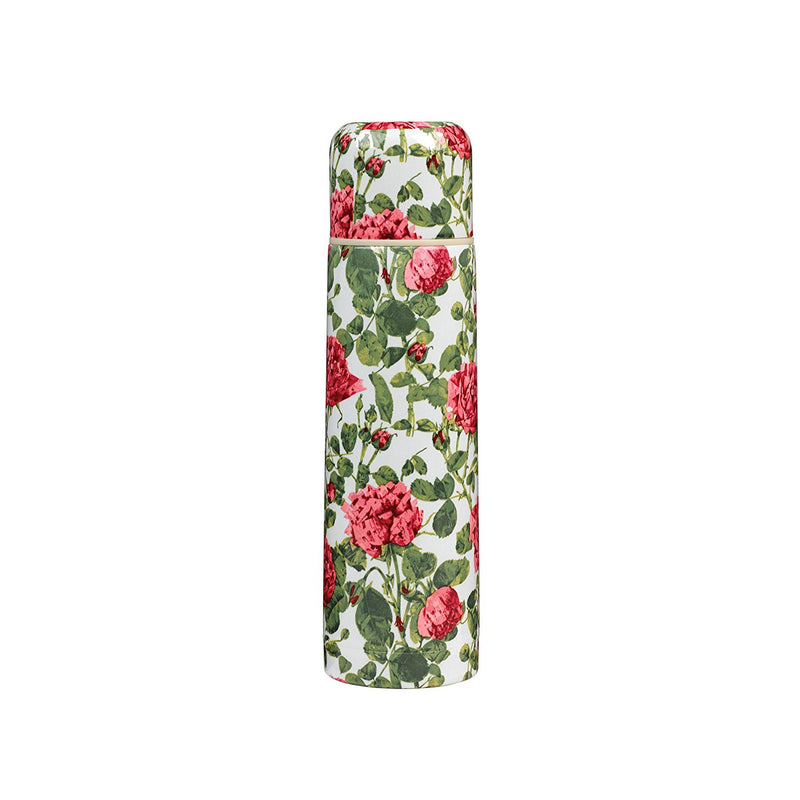 Wild & Wolf V&A Roses Vacuum Flask - Cream/Pink