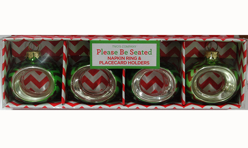 Two's Company Ornament Place card Holders / Napkin Rings