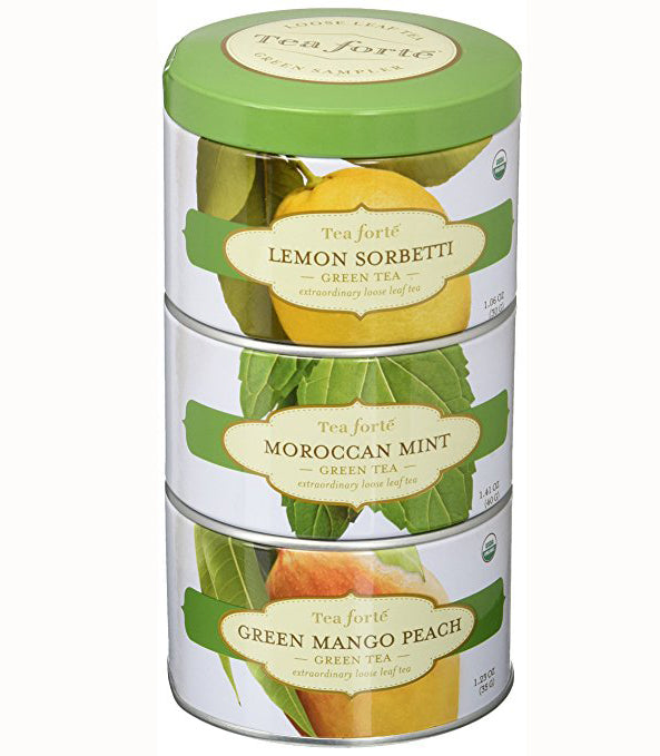 Tea Forte Loose Leaf Tea Trio - Green Tea