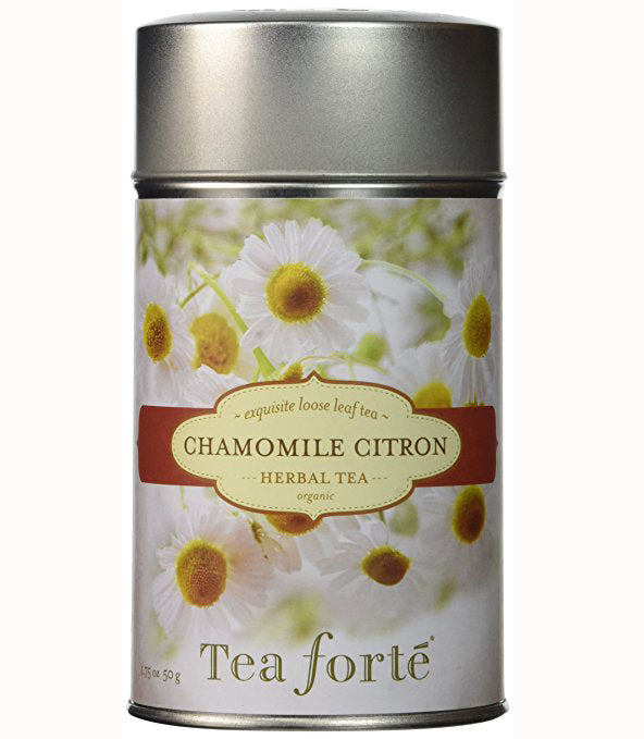 Tea Forte Chamomile Citron Tea Loose Leaf Herbal Tea Canister