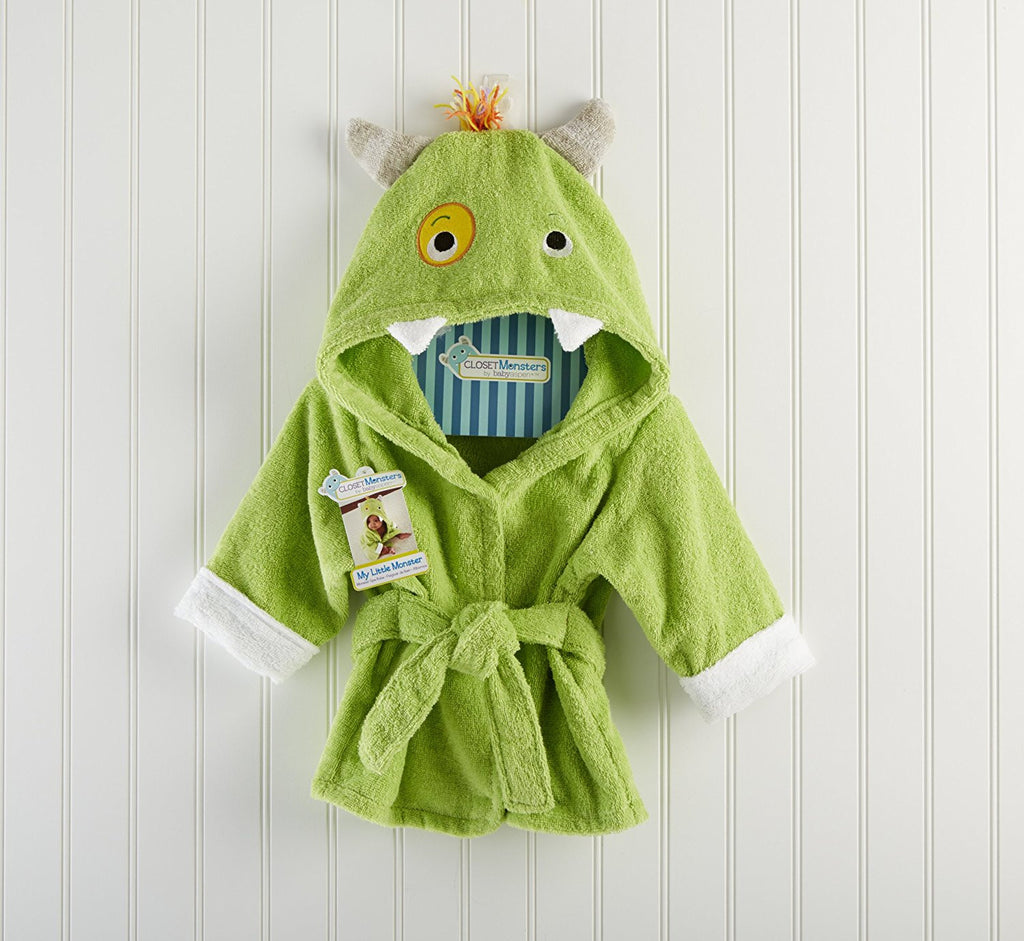 "Baby Aspen ""My Little Monster"" Hooded Spa Robe"
