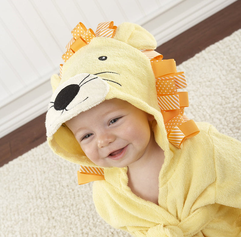 "Baby Aspen ""Big Top Bath Time"" Lion Hooded Spa Robe"
