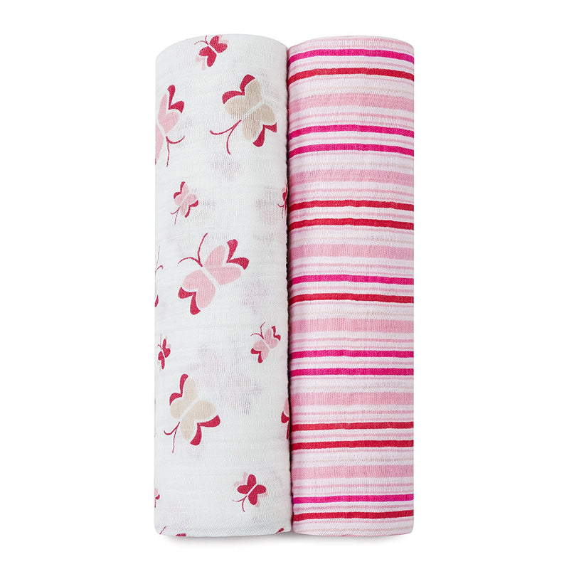 Aden + Anais Classic Muslin Swaddle Blankets 2-Pack - Princess Posie
