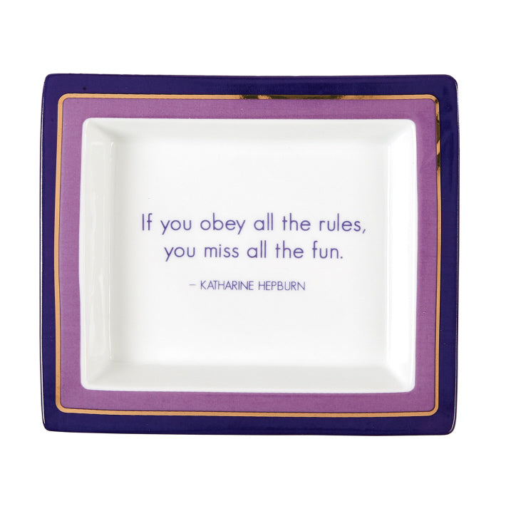 "Two's Company ""If You Obey The Rules"" Tray In Gift Box"