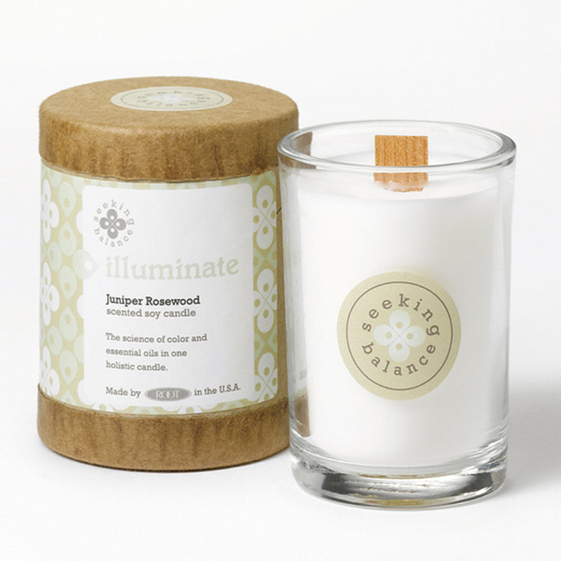 Root Seeking Balance 6.5 Oz. Candle - Illuminate Juniper Rosewood