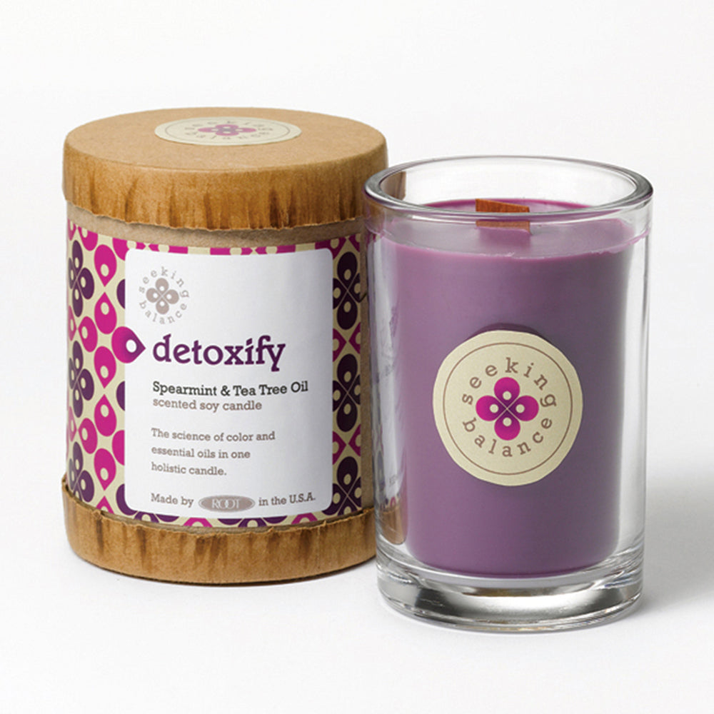 Root Seeking Balance 6.5 Oz Candle - Detoxify Spearmint & Tea Tree Oil