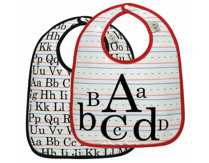 Oré Originals SugarBooger Vintage Alphabet Mini Bib Gift Set (Set of 2)