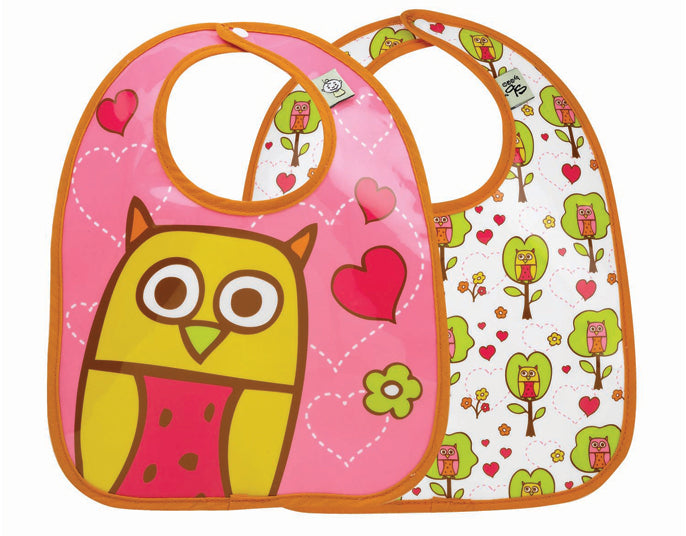 Oré Originals SugarBooger Hoot! Mini Bib Gift Set (Set of 2)