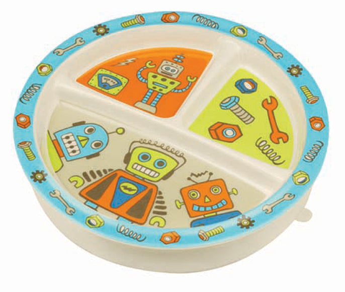 Oré Originals SugarBooger Retro Robot Divided Suction Plate