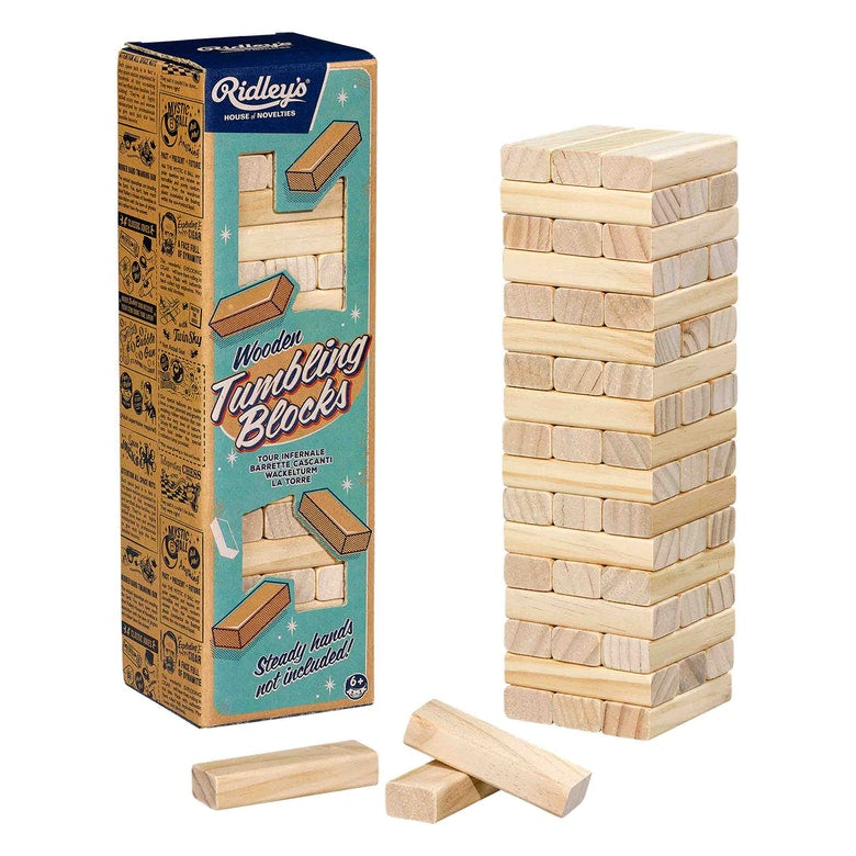 Wild & Wolf Tumbling 54 Wooden Blocks