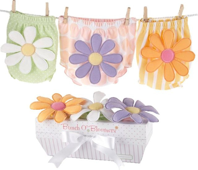 "Baby Aspen ""Bunch O'Bloomers"" Three Bloomers for Blooming Bums Baby Gift Set"