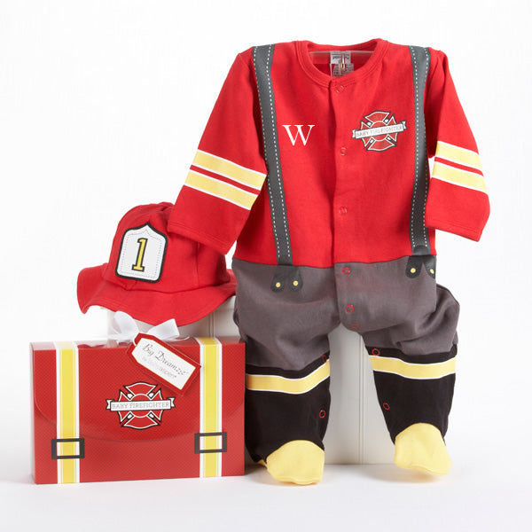 "Baby Aspen ""Big Dreamzzz"" Baby Firefighter 2-Piece Layette Set"