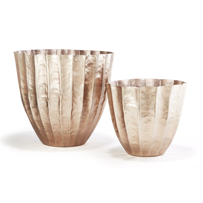 Tozai Home Rose Swirl Set of 2 Large Planters