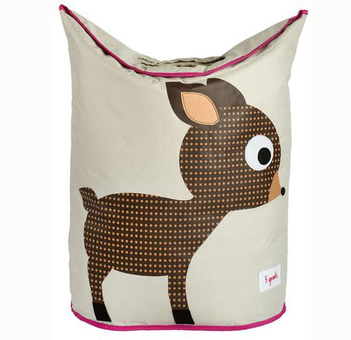 3 Sprouts Deer Laundry Hamper