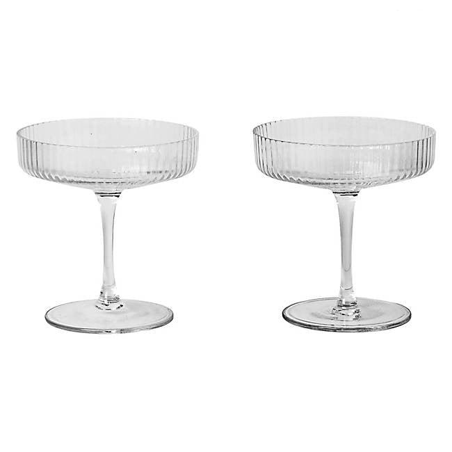 Ferm Living Ripple Champagne Saucer (set of 2)