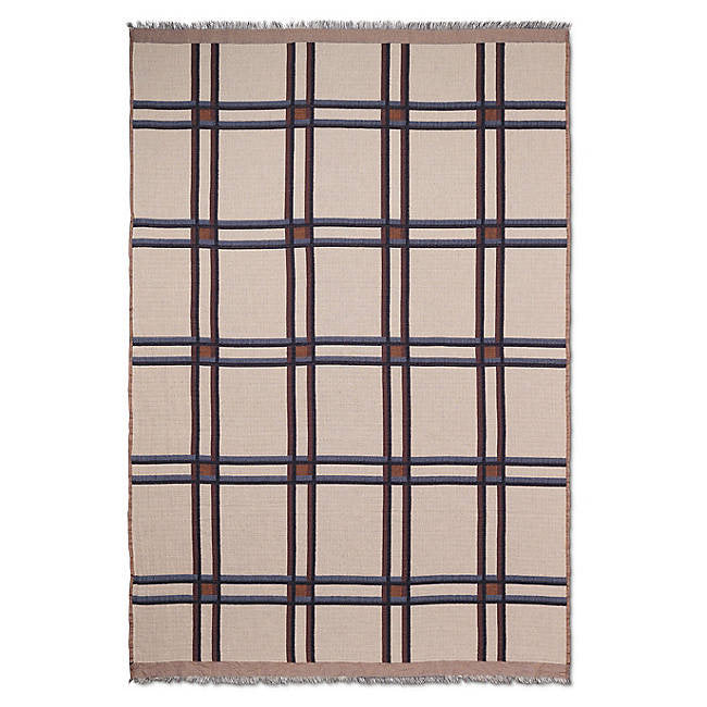 Ferm Living Checked Wool Blend Blanket