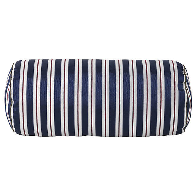 Salon Bolster Cushion - Pinstripe