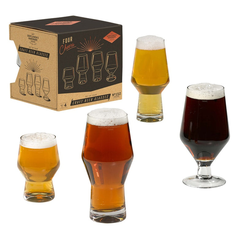 Wild & Wolf Craft Beer Glasses (Set of 4)