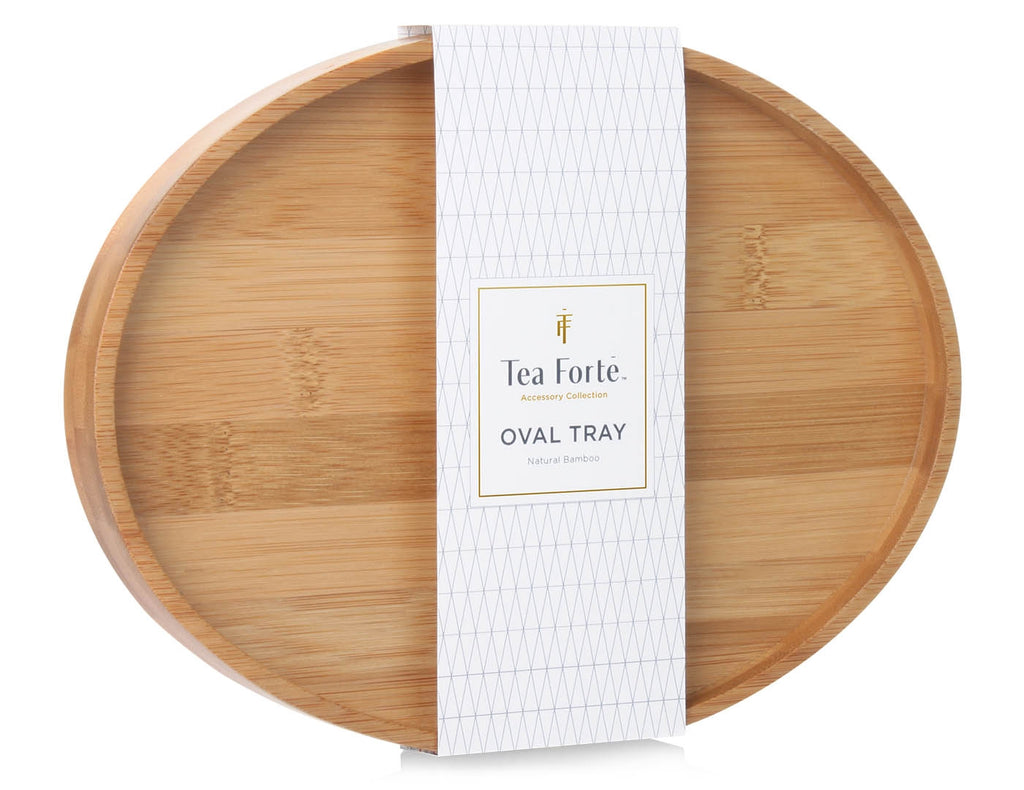 Tea Forte Bamboo Oval Tea Serving Tray