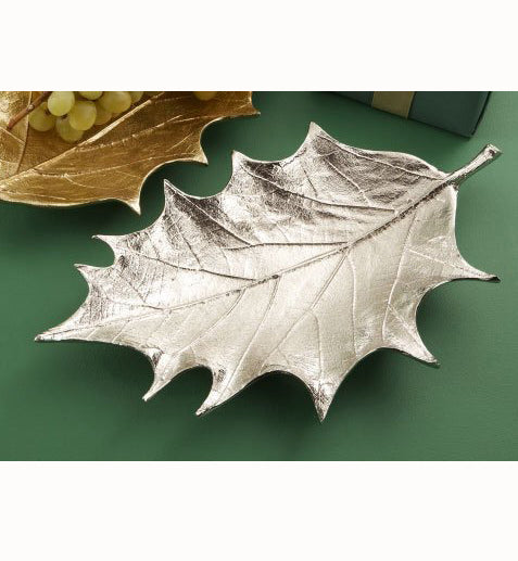 Two's Company Holly Leaf Plate