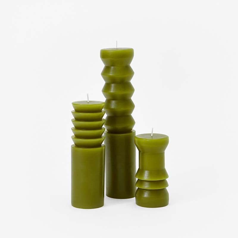 Areaware Totem Candles - Moss