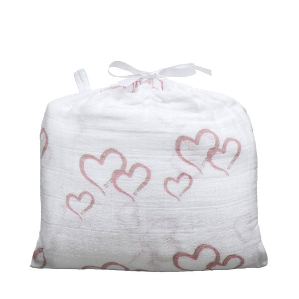 Aden + Anais Classic Muslin Single Swaddle Blanket - Sweet Heart