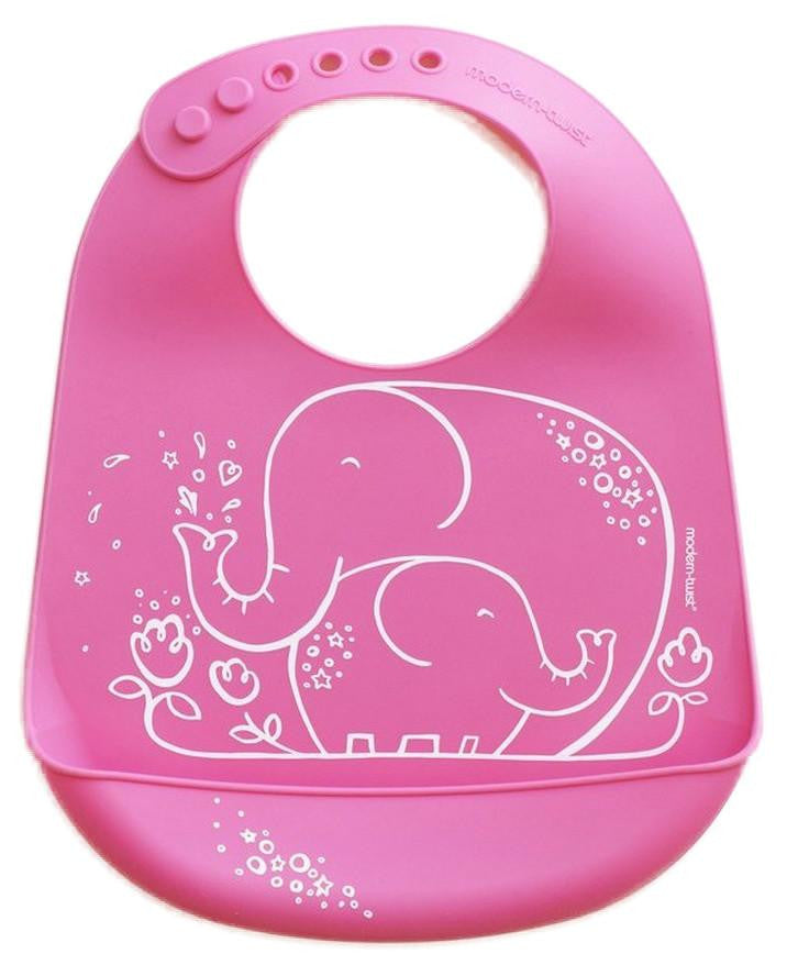Modern-Twist Elephant Hugs Bucket-bib