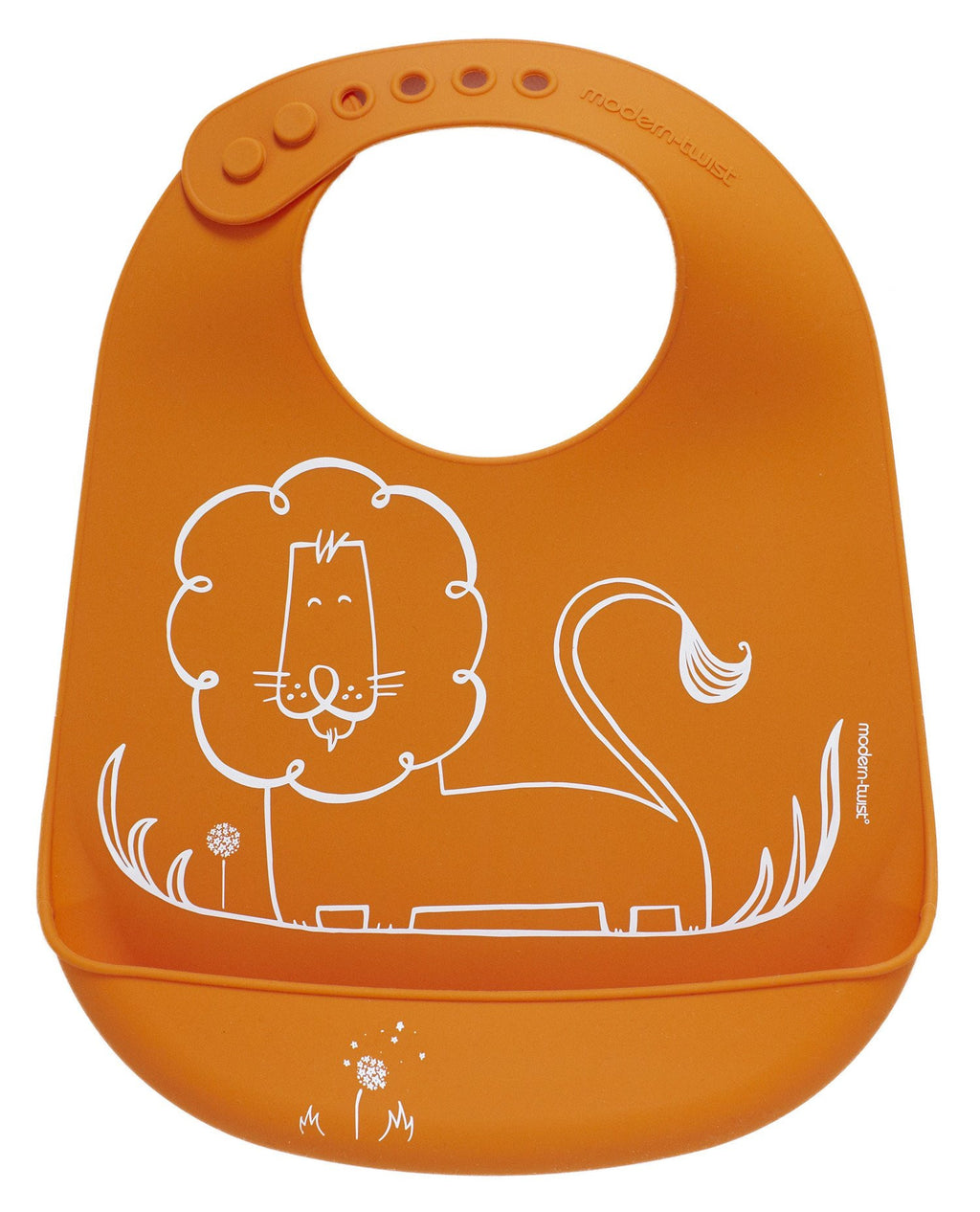Modern-Twist Dandy Lion Bucket-bib