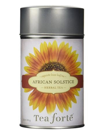 Tea Forte AFRICAN SOLSTICE Loose Leaf Herbal Tea, 3.5 Ounce Tea Canister