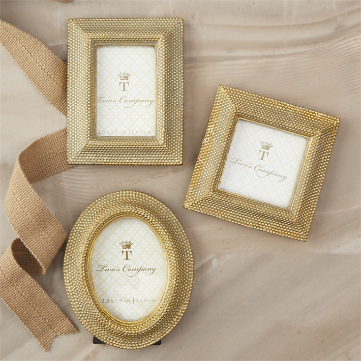 Two's Company Golden Dots Photo Frame