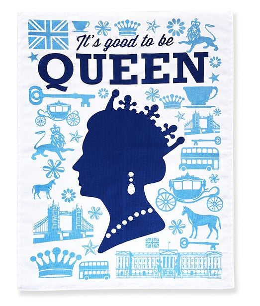 Naked Décor Good To Be Queen Tea Towel