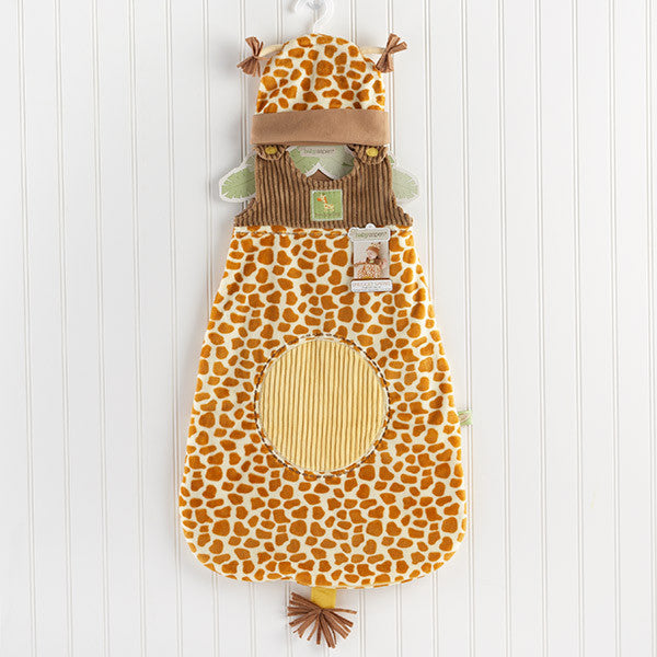 "Baby Aspen ""Born To Be Wild"" Giraffe Snuggle Sack and Hat"