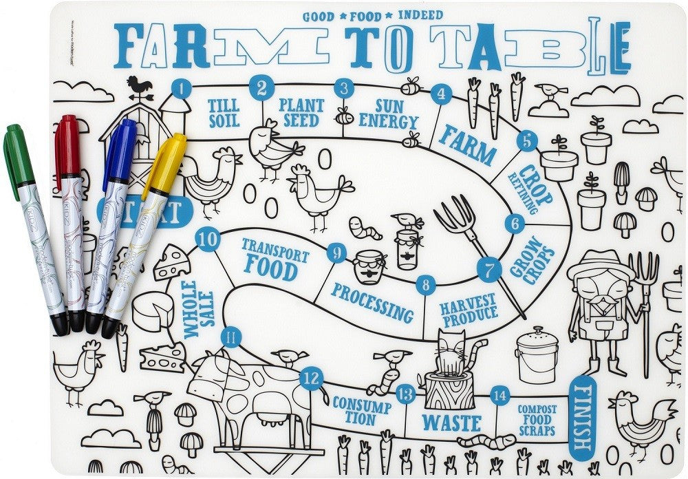 Modern-Twist Kidz Farm to Table + Markers