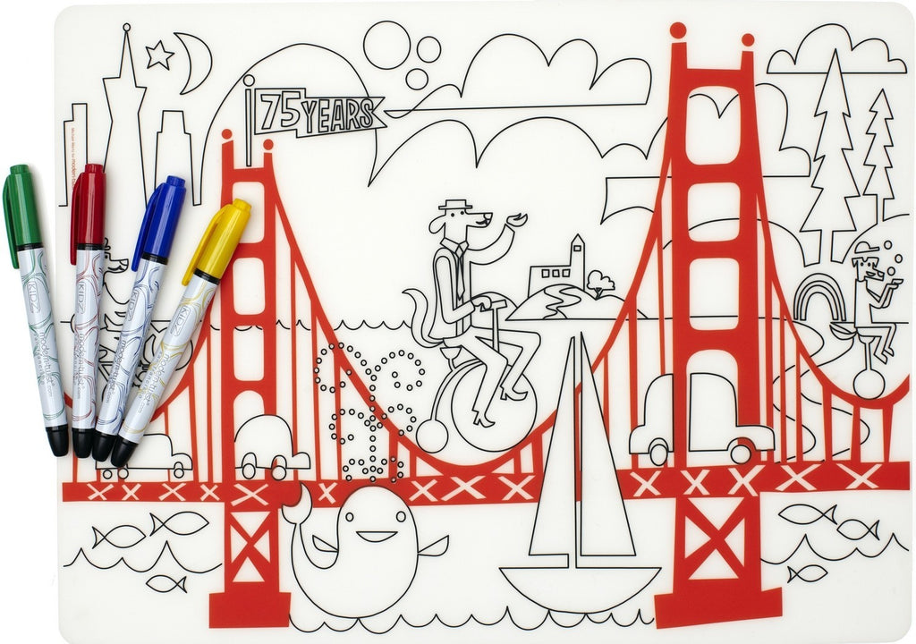 Modern-Twist Kidz Fun on the Golden Gate + Markers
