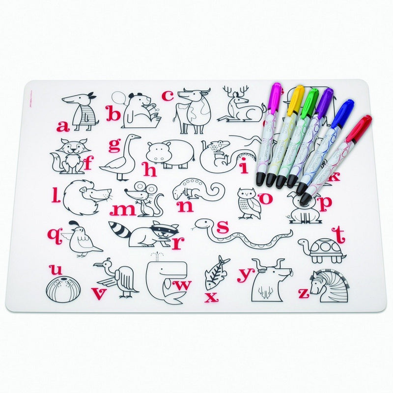 Modern-Twist Kidz Placemat in Gift Box Set + Markers
