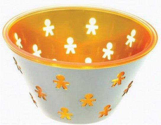 "Alessi ""Mini Girotondo"" Round Basket - Orange"
