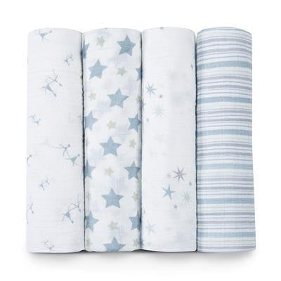 Aden + Anais Classic Swaddle Blankets 4-Pack - Prince Charming