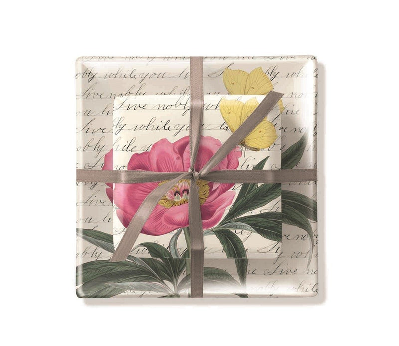 Fringe Studio Square Floral Tray & Soap Set