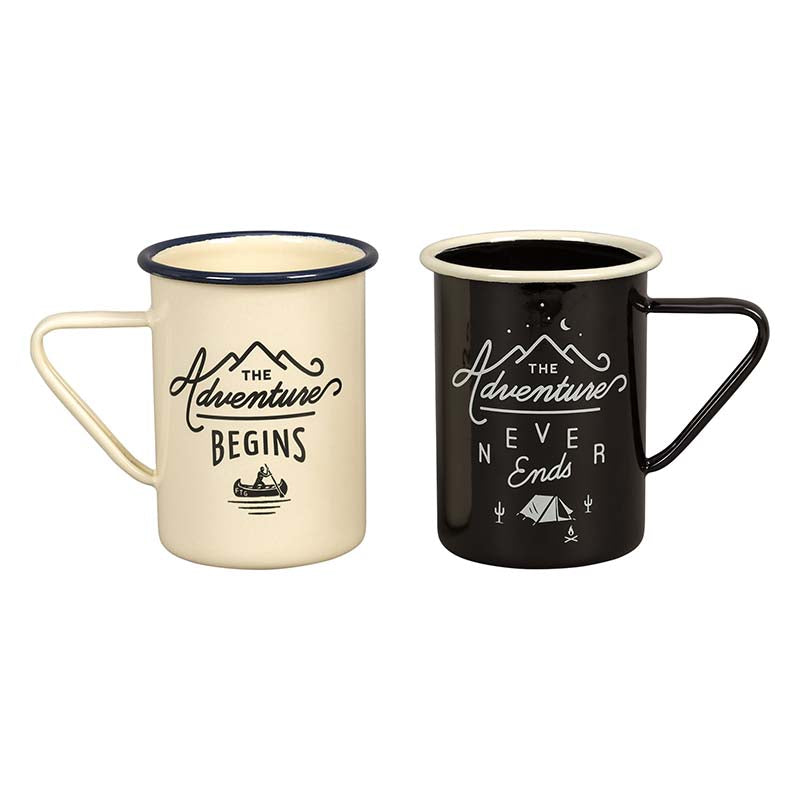 Wild & Wolf Tall Enamel Mugs (Set of 2)