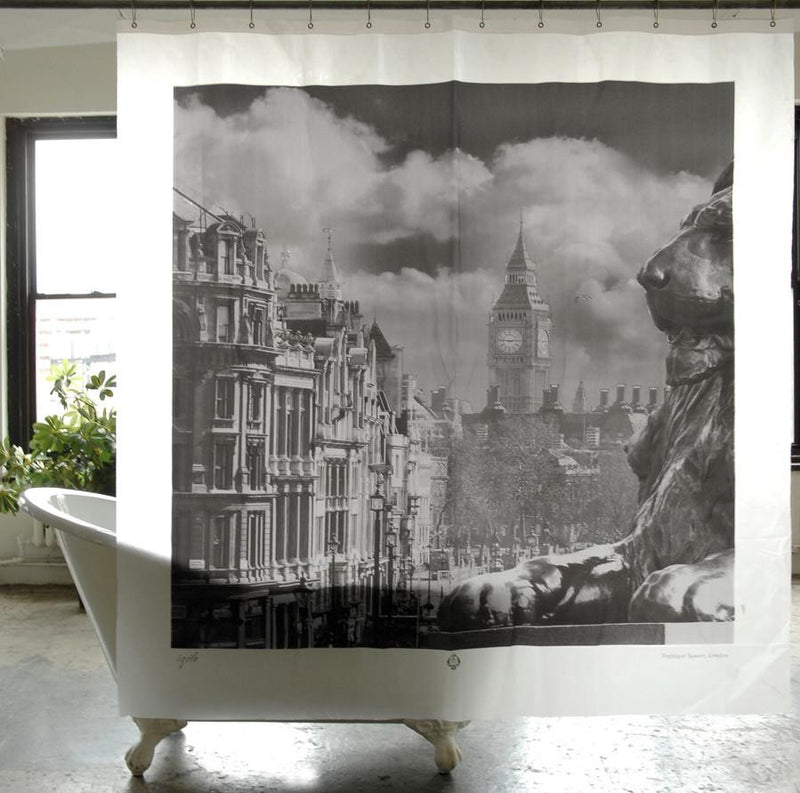 Izola Trafalgar Square London Peva Shower Curtain