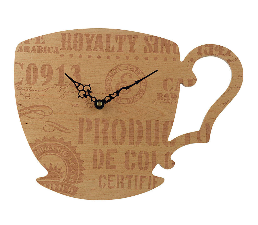 Grasslands Road Coffee Cup Clock