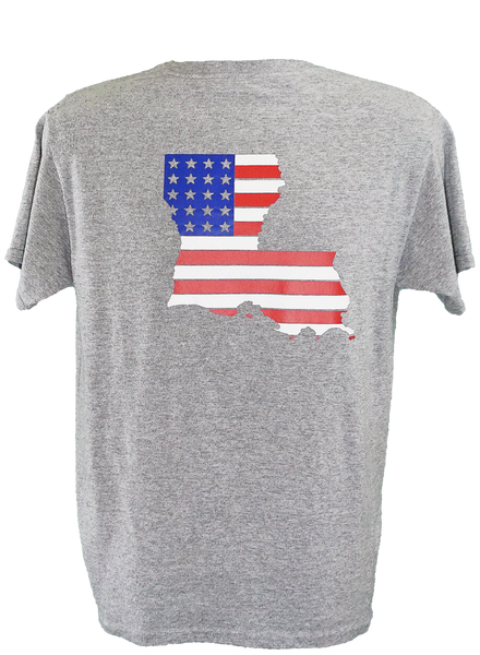 Louisiana American Flag (ASH GREY)
