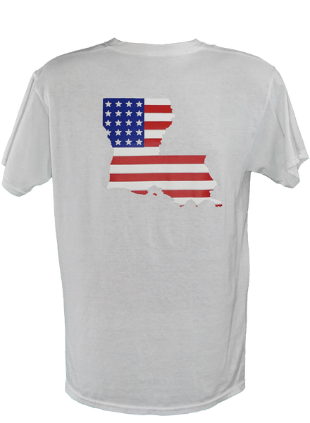 Louisiana American Flag (WHITE)