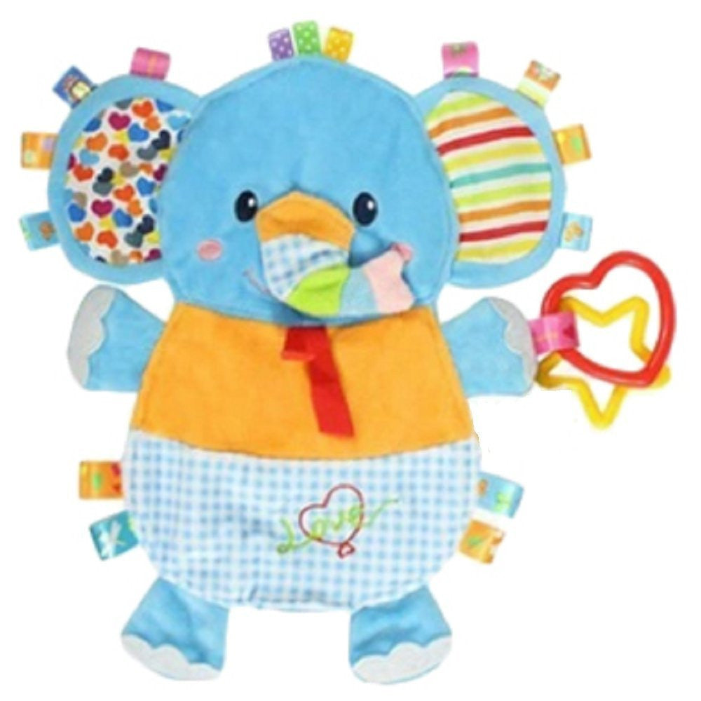 Elephant Taggie Activity Blanket and Sensory Toy Baby Gifts For Newborns on Up