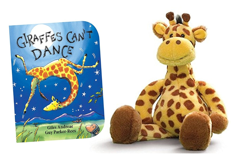 Geri Giraffe Stuffed Animal with Giraffes Cant Dance Board Book